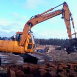 Brytning med grävmaskin